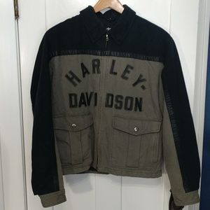Harley-Davidson Leather Trimmed Jacket